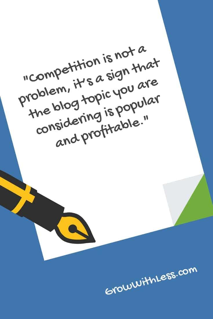 quote about competitive blog topics