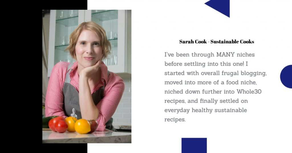 Quote from blogger Sarah Cook