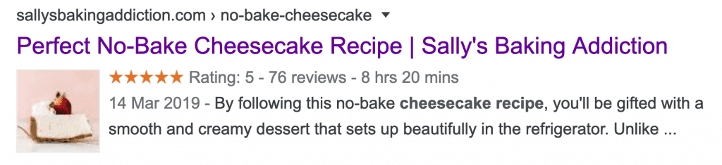 Sallys Baking addiction page title example